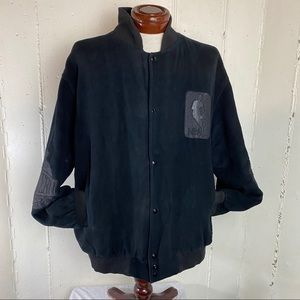 VTG RARE NBA East & West Conf. black bomber jacket
